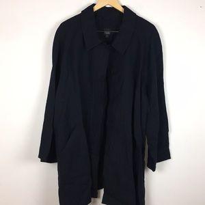 Eileen Fisher Woman Navy Blue Linen Jacket